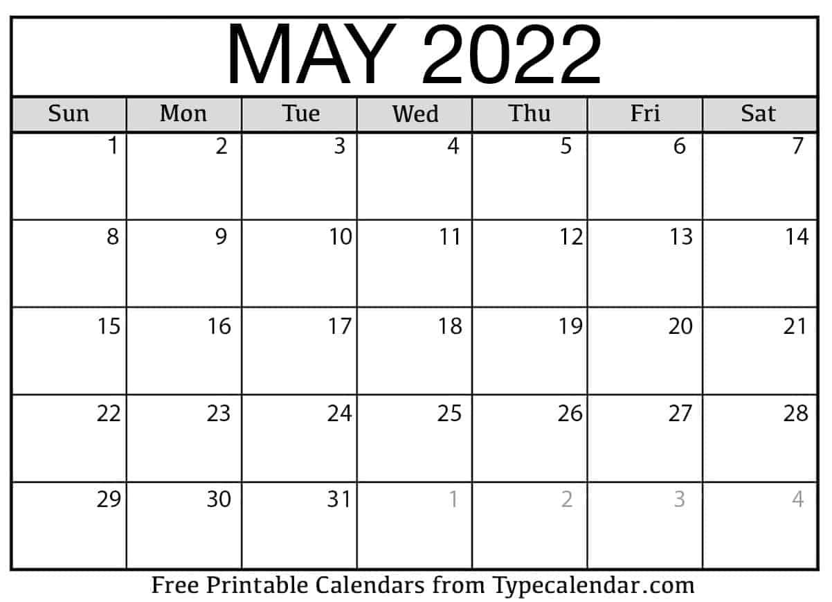 May 2022 Calendar 1